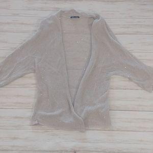 Eileen Fisher Sequin Open Front Cardigan